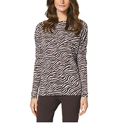 Savannah Zebra-Print Top
