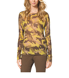 Camouflage-Print Mohair-Blend Sweater