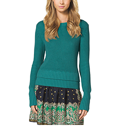 Zip-Embellished Cotton-Blend Sweater