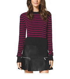 Striped Angora-Blend Sweater