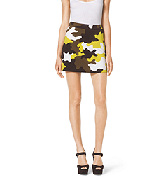 Camouflage Stretch Mini Skirt