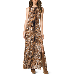 Mixed Animal-Print Maxi Dress