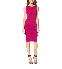 Shirred Stretch Sheath Dress