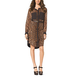 Mowani Leopard-Print Shirtdress