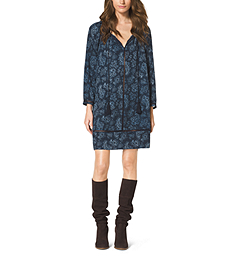 Paisley-Print Tunic Dress