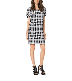 Sequined Houndstooth Dress