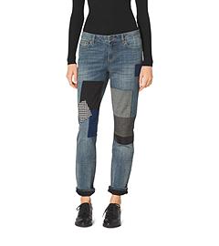 Patchwork Boyfriend Jeans