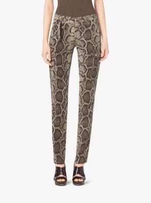Python-Print Cargo Pants by Michael Kors