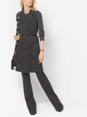 Wool-Blend Twill Vest by Michael Kors