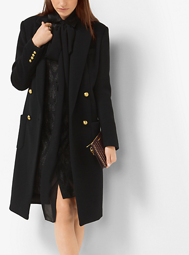 Double-Breasted Wool Coat         by Michael Kors