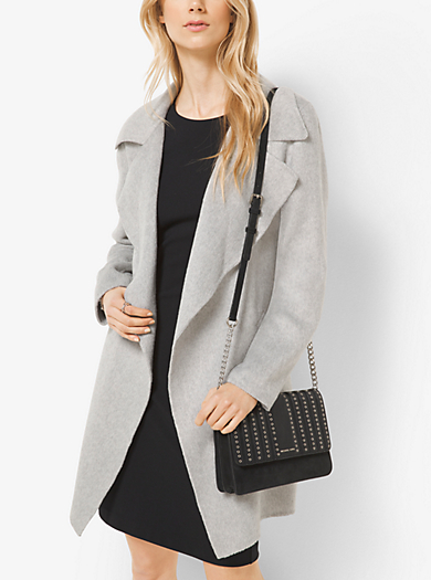 Belted Double-Face Wool Wrap Coat by Michael Kors