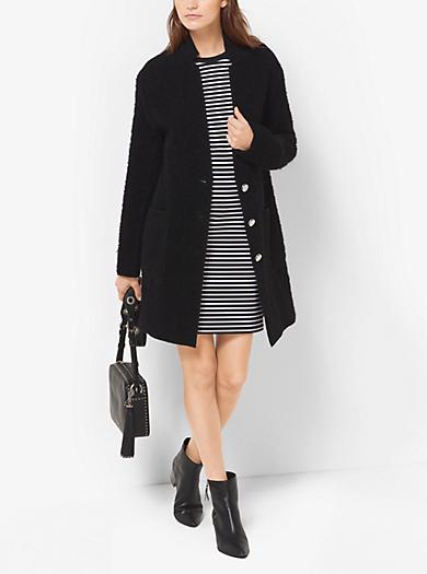 Wool-Bouclé Coat  by Michael Kors