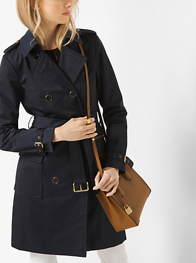 Cotton-Sateen Trench Coat by Michael Kors