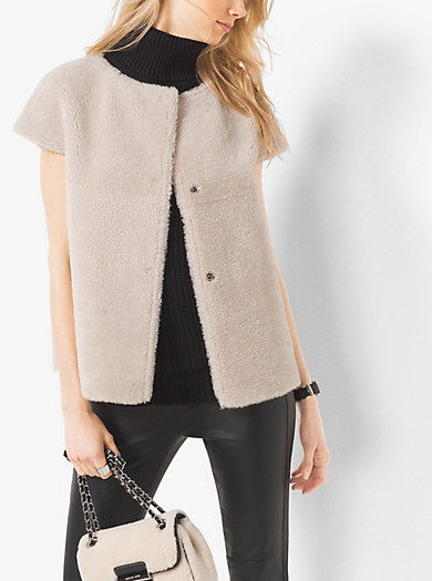Shearling Vest by Michael Kors