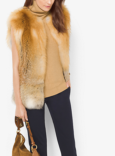 Coyote and Fox Fur Vest by Michael Kors