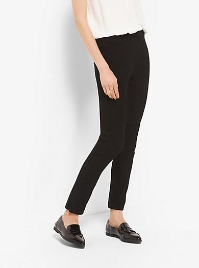 Pantaloni corti in pelle scamosciata stretch by Michael Kors