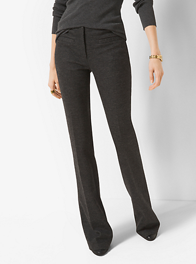 Wool-Blend Flared Trousers by Michael Kors