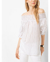 Peekaboo Striped Cotton Top