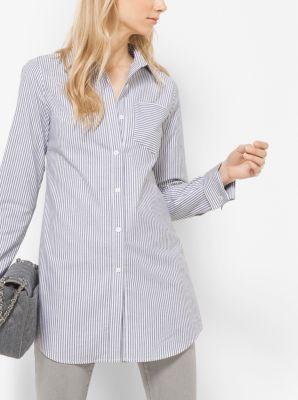 Striped Cotton Shirt by Michael Kors