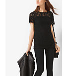 Short-Sleeved Lace Shirt