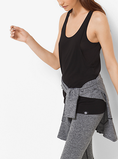 Active Double-Layer Vest Top by Michael Kors
