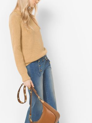 Cotton-Blend Shaker Sweater by Michael Kors