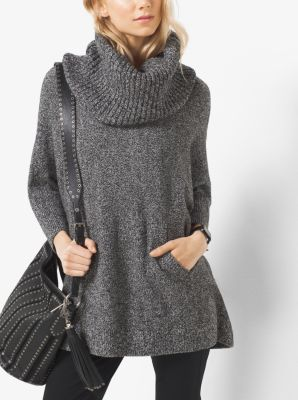 Marled Cowl-Neck Wool-Blend Sweater by Michael Kors