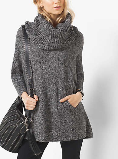 Marled Cowl-Neck Wool-Blend Jumper by Michael Kors