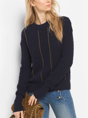 Sweater With Chain Trim 86