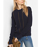 Chain-Trim Merino Wool and Cashmere Sweater