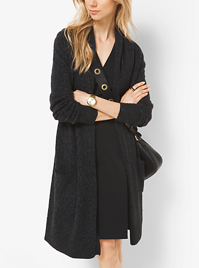 Cardigan in tweed drappeggiato by Michael Kors