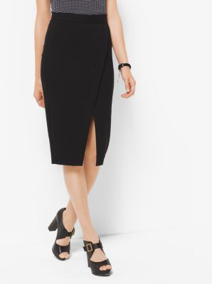 Stretch-Viscose Wrap Skirt          by Michael Kors
