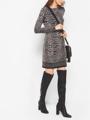Animal-Print Matte-Jersey Dress by Michael Kors