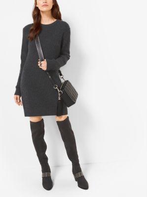 마이클 마이클 코어스 울캐시미어 스웨터 원피스 - 더비 Michael Michael Kors Wool and Cashmere Sweater Dress,DERBY