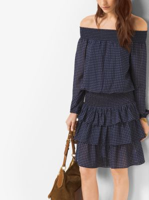 Printed Off-The-Shoulder Dress by Michael Kors