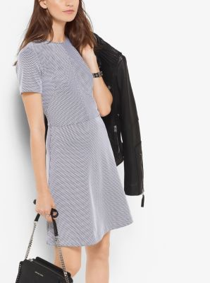 Jacquard Fit-and-Flare Dress by Michael Kors