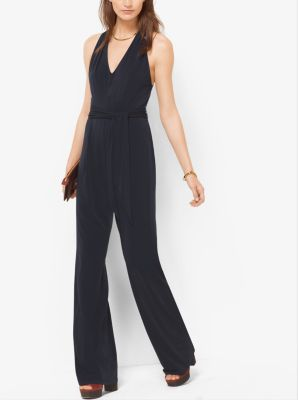Belted Matte-Jersey Jumpsuit by Michael Kors