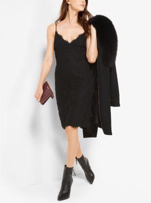 Scalloped Lace Slip Dress by Michael Kors