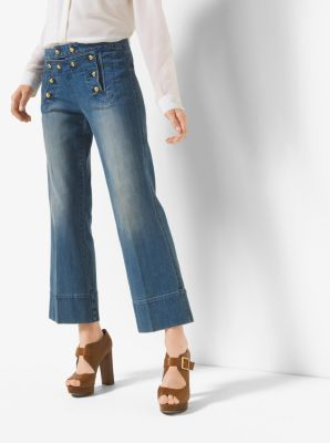 Cropped Sailor Jeans by Michael Kors