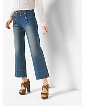 Cropped Sailor Jeans