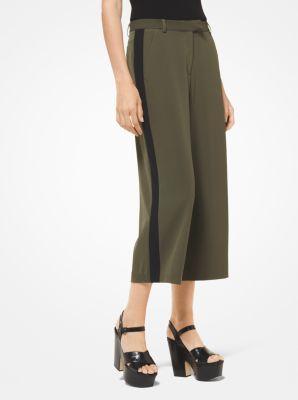 마이클 코어스 스트라이프 치마 바지 Michael Kors Contrast Stripe Stretch-Viscose Culottes