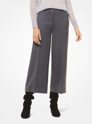 마이클 마이클 코어스 크롭 바지 Michael Michael Kors Herringbone Flannel Cropped Trousers,DERBY