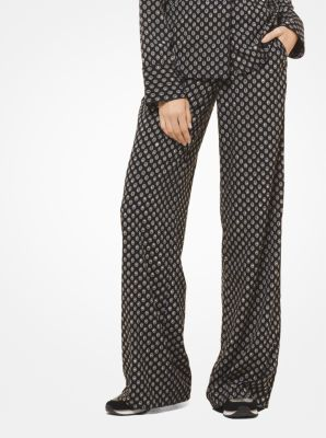 마이클 코어스 파자마 팬츠 블랙/본 Michael Kors Studded Medallion Pajama Pants,BLACK/BONE