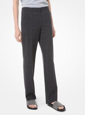 마이클 마이클 코어스 바지 Michael Michael Kors Glen Plaid Stretch-Wool Trousers,CHARCOAL