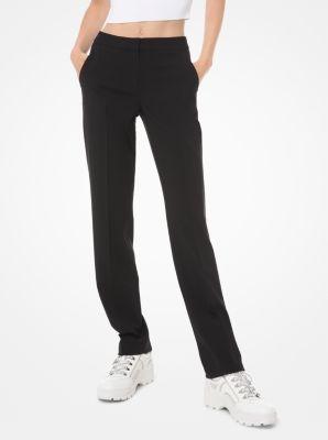 마이클 마이클 코어스 바지 Michael Michael Kors Stretch-Wool Straight-Leg Trousers,BLACK
