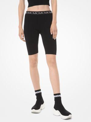 마이클 마이클 코어스 반바지 Michael Michael Kors Stretch-Viscose Bike Shorts,BLACK