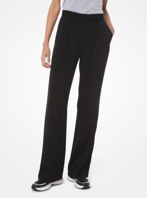 마이클 마이클 코어스 바지 Michael Michael Kors Logo Jacquard Pants,BLACK