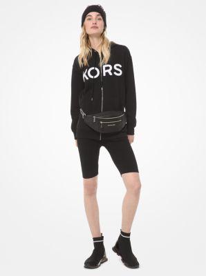 마이클 마이클 코어스 집업 후드티 Michael Michael Kors KORS Cotton Zip-Up Hoodie,BLACK