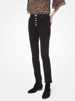 마이클 마이클 코어스 하이라이즈 스키니 진 Michael Michael Kors Stretch-Denim High-Rise Skinny Jeans,BLACK