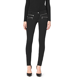 Zip-Pocket Stretch-Twill Skinny Jeans